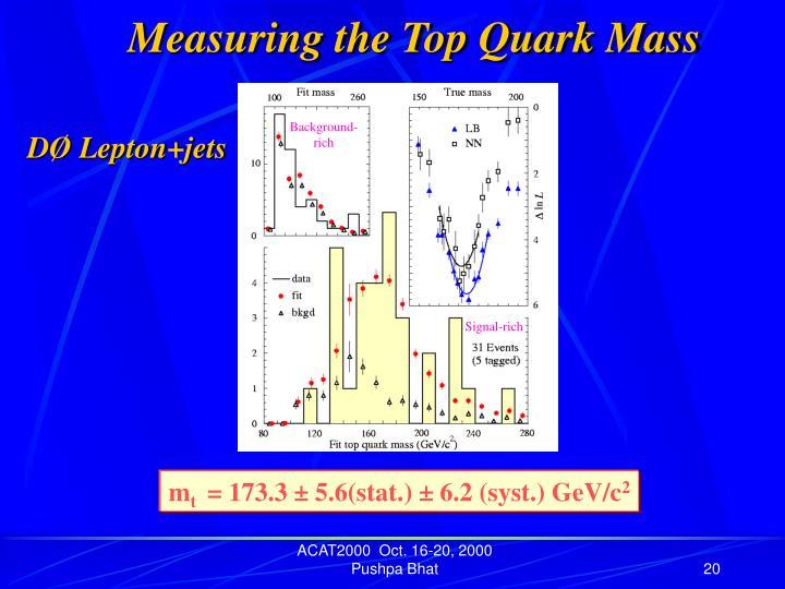 Measuring the Top Quark Mass