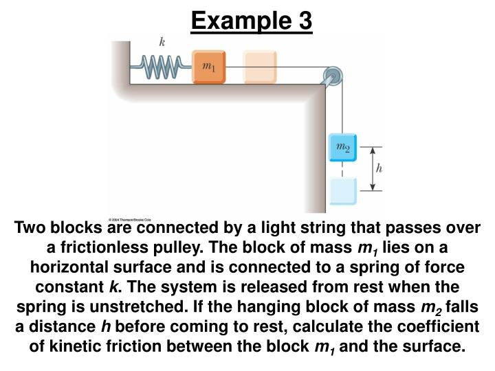 Two blocks are connected by a light string that passes over a frictionless pulley. The block of mass