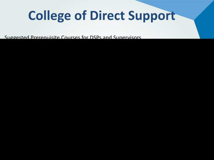 College of Direct Support