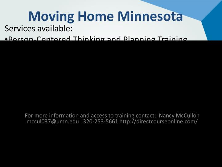 Moving Home Minnesota