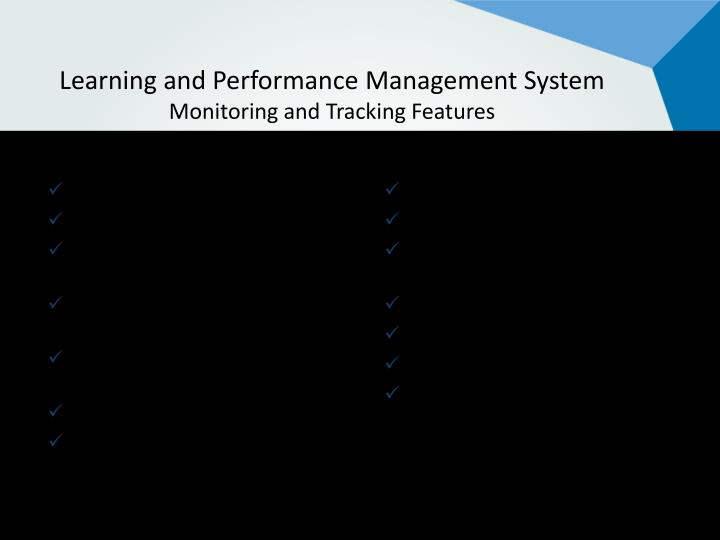 Learning and Performance Management System