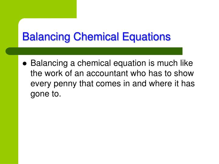 Balancing chemical equations1