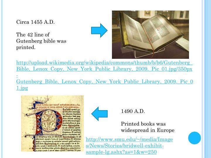 Circa 1455 A.D.