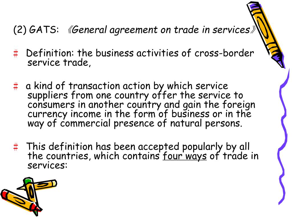 PPT - Basic Categories of International Trade in Services