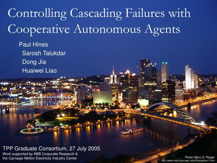 controlling cascading failures with cooperative autonomous agents n.