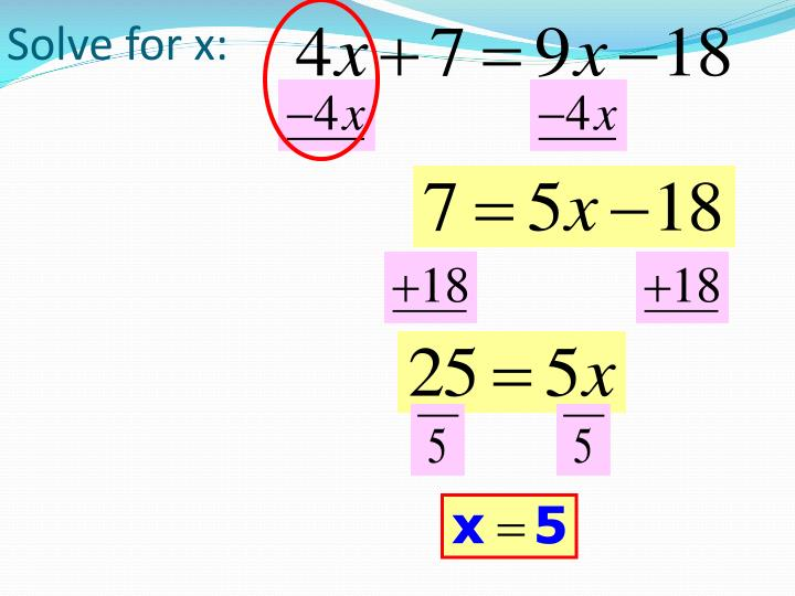 Solve for x: