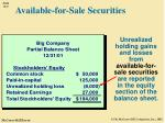 available for sale securities1