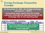 foreign exchange transaction example2