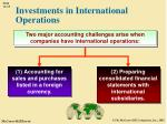 investments in international operations
