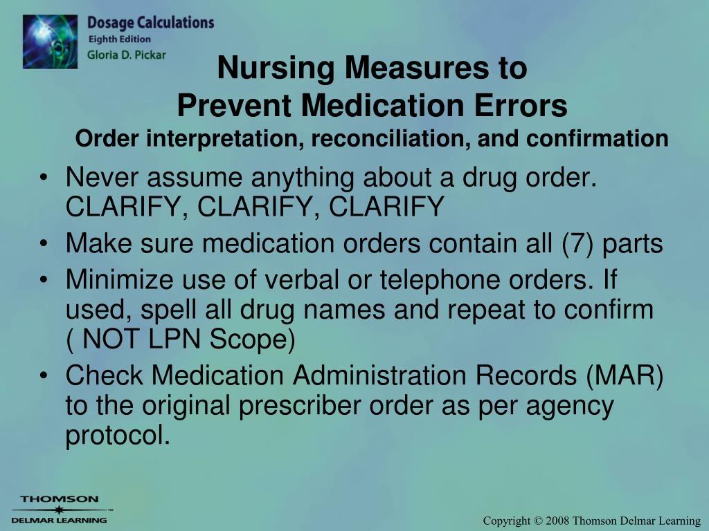 PPT - The Practical Nurses Role in Preventing Medication