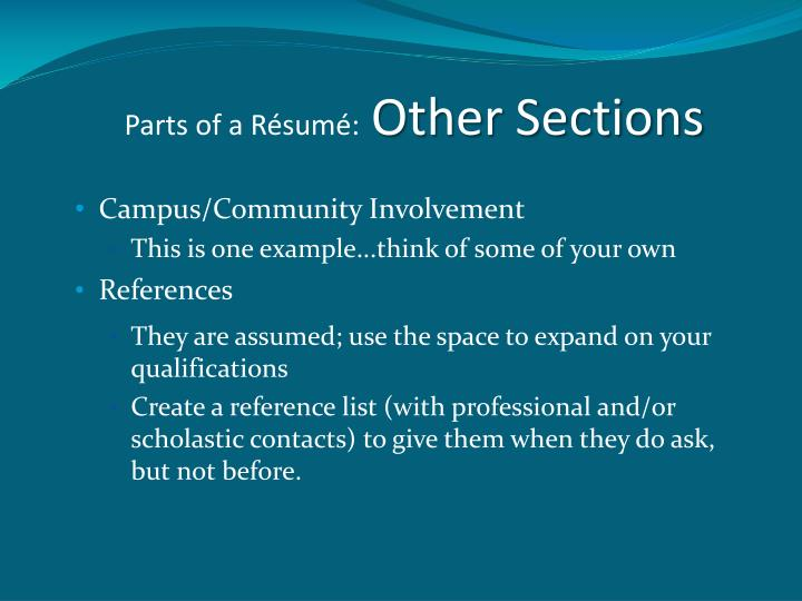 PPT - Writing Your Résumé Career Center Workshop- Nursing PowerPoint ...