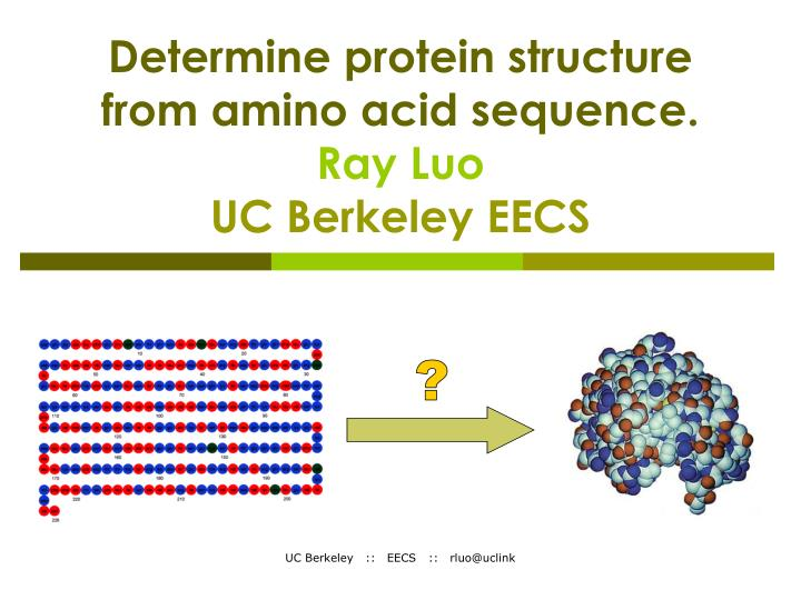 Ppt Determine Protein Structure From Amino Acid Sequence