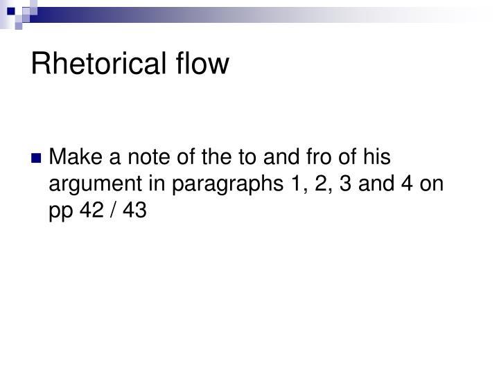 Rhetorical flow