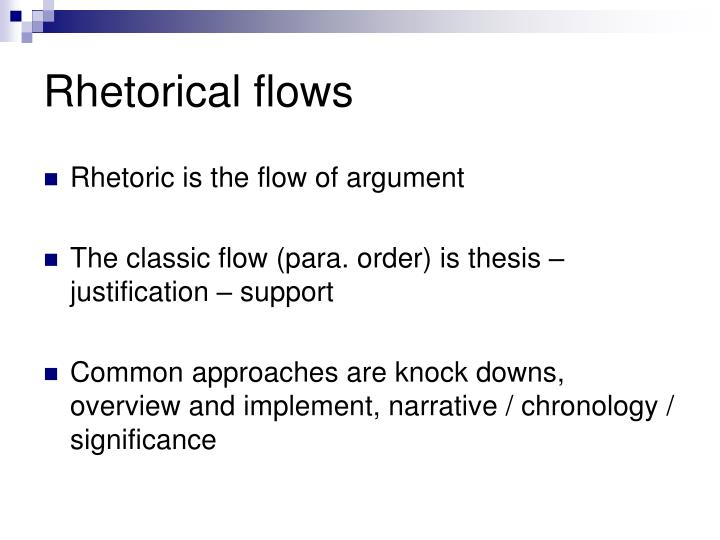 Rhetorical flows