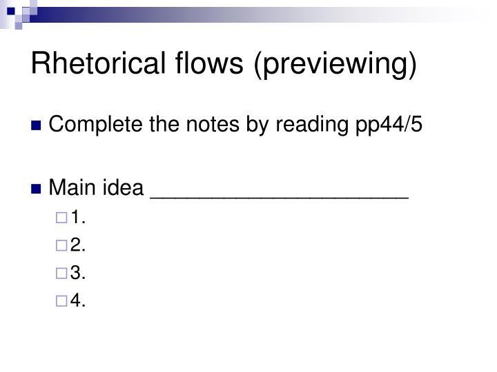 Rhetorical flows (previewing)