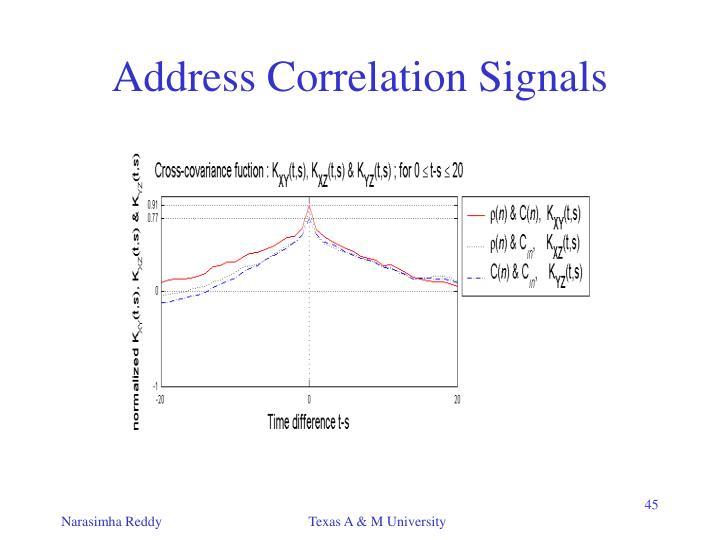 Address Correlation Signals