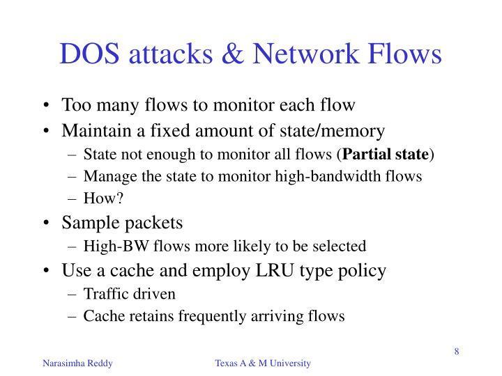DOS attacks & Network Flows