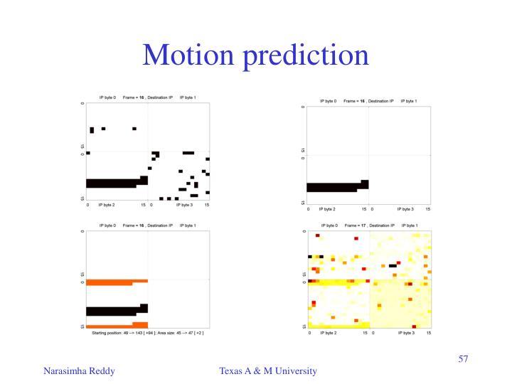 Motion prediction