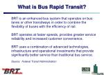 what is bus rapid transit