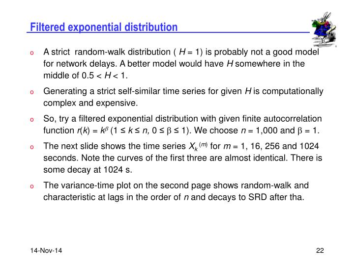 Filtered exponential distribution