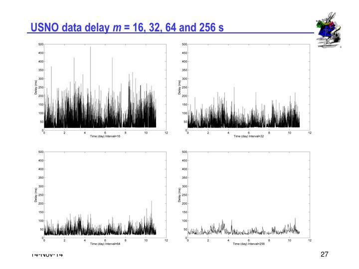 USNO data delay
