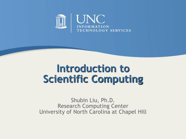 introduction to scientific computing n.