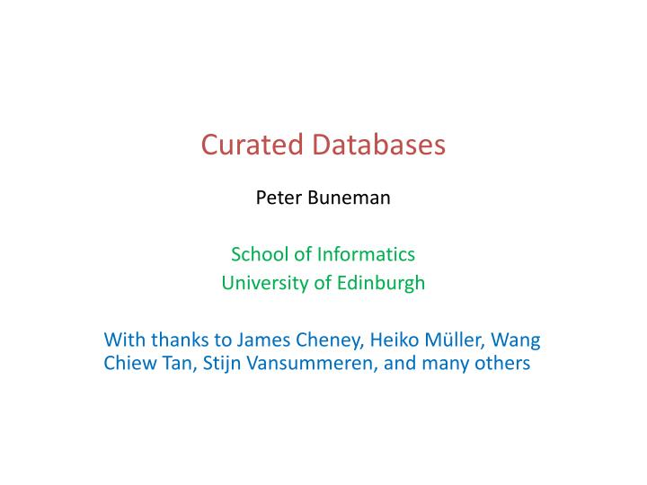 Curated databases