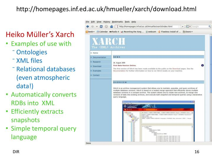 http://homepages.inf.ed.ac.uk/hmueller/xarch/download.html