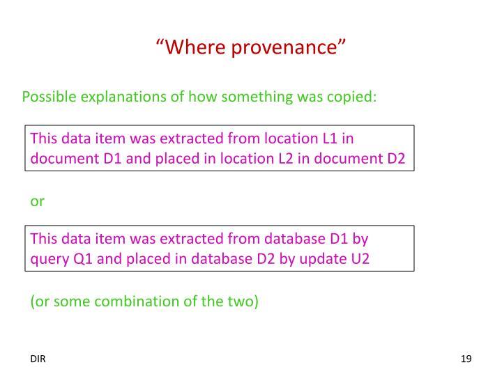 """Where provenance"""