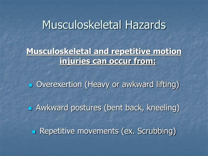 Musculoskeletal Hazards