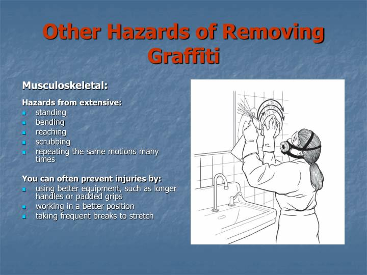Other Hazards of Removing Graffiti