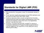 standards for digital lmr p25