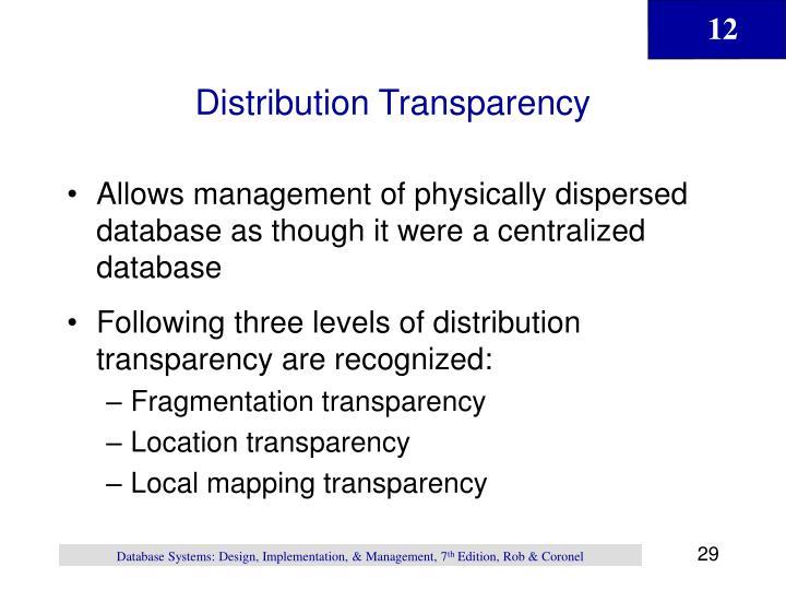 Distribution Transparency
