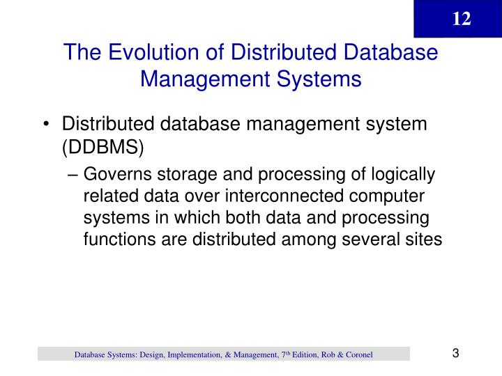 The evolution of distributed database management systems