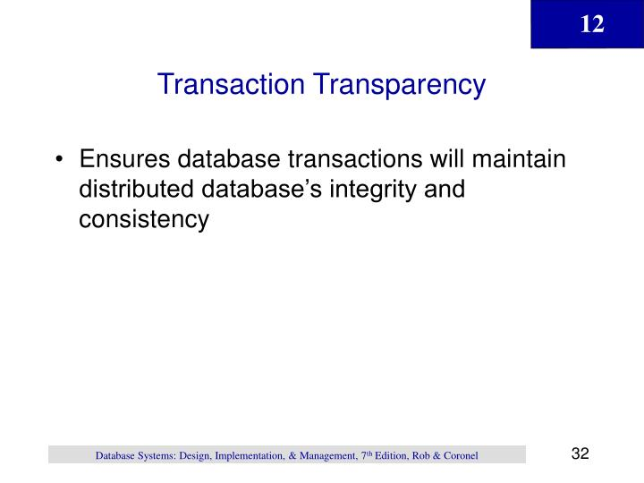 Transaction Transparency