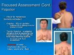 focused assessment cont palpation