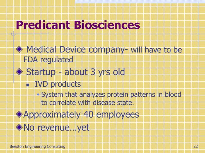 Predicant Biosciences