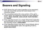 bearers and signaling