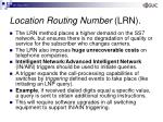 location routing number lrn