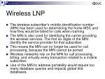 wireless lnp