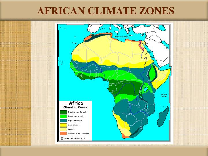 Map Of Africa Climate Zones.Ppt Sub Saharan Africa Powerpoint Presentation Id 6627911