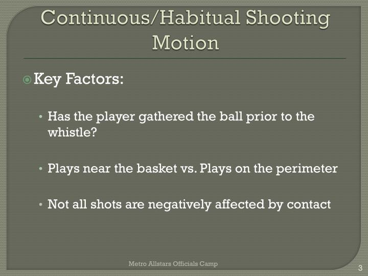 Continuous habitual shooting motion1