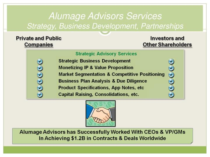 Alumage Advisors Services