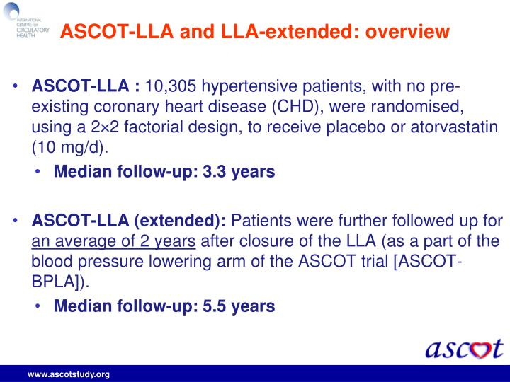 ASCOT-LLA and LLA-extended: overview