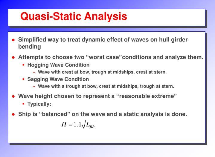 Quasi-Static Analysis
