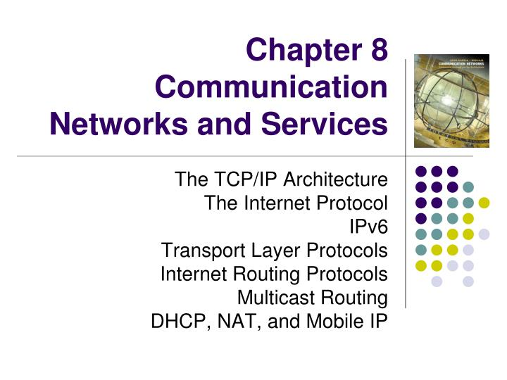 chapter 8 communication networks and services n.