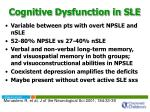 cognitive dysfunction in sle