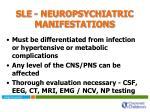 sle neuropsychiatric manifestations