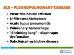 sle pleuropulmonary disease