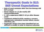 therapeutic goals in sle still unmet expectations